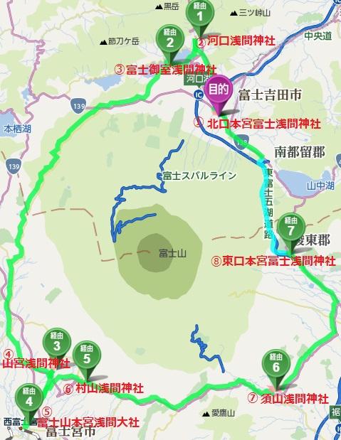 浅間神社8社巡り++