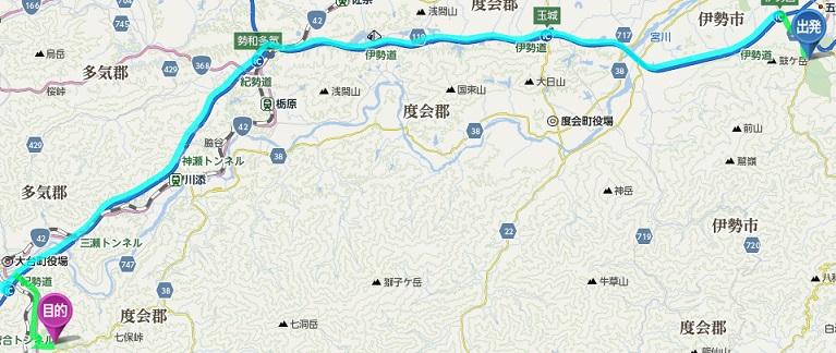 瀧原宮への道