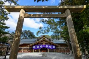 猿田彦神社の鳥居正面
